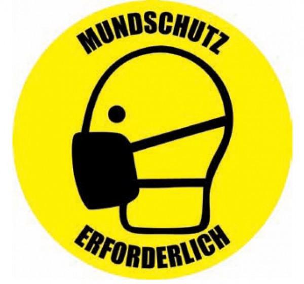 "Bodenaufkleber ""Mundschutz"""