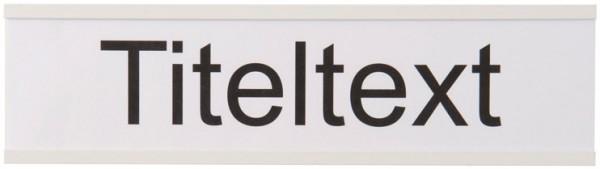 Beschriftung mit Folienstreifen für Alu-Titeltextleiste