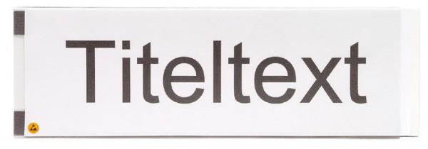 Kunststoff-Titeltextleiste ESD-Ausführung