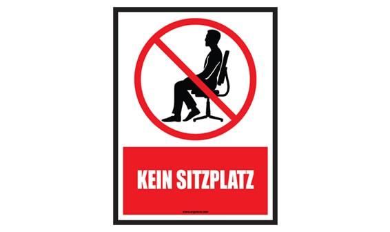 "Warnaufkleber ""Kein Sitzplatz"""