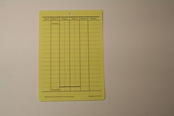 Lagerfachkarte DIN A6