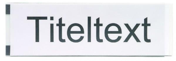 Kunststoff-Titeltextleiste