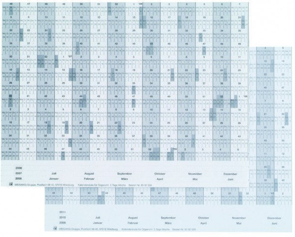 Kalenderskala für Orgasicht-Skalenträger